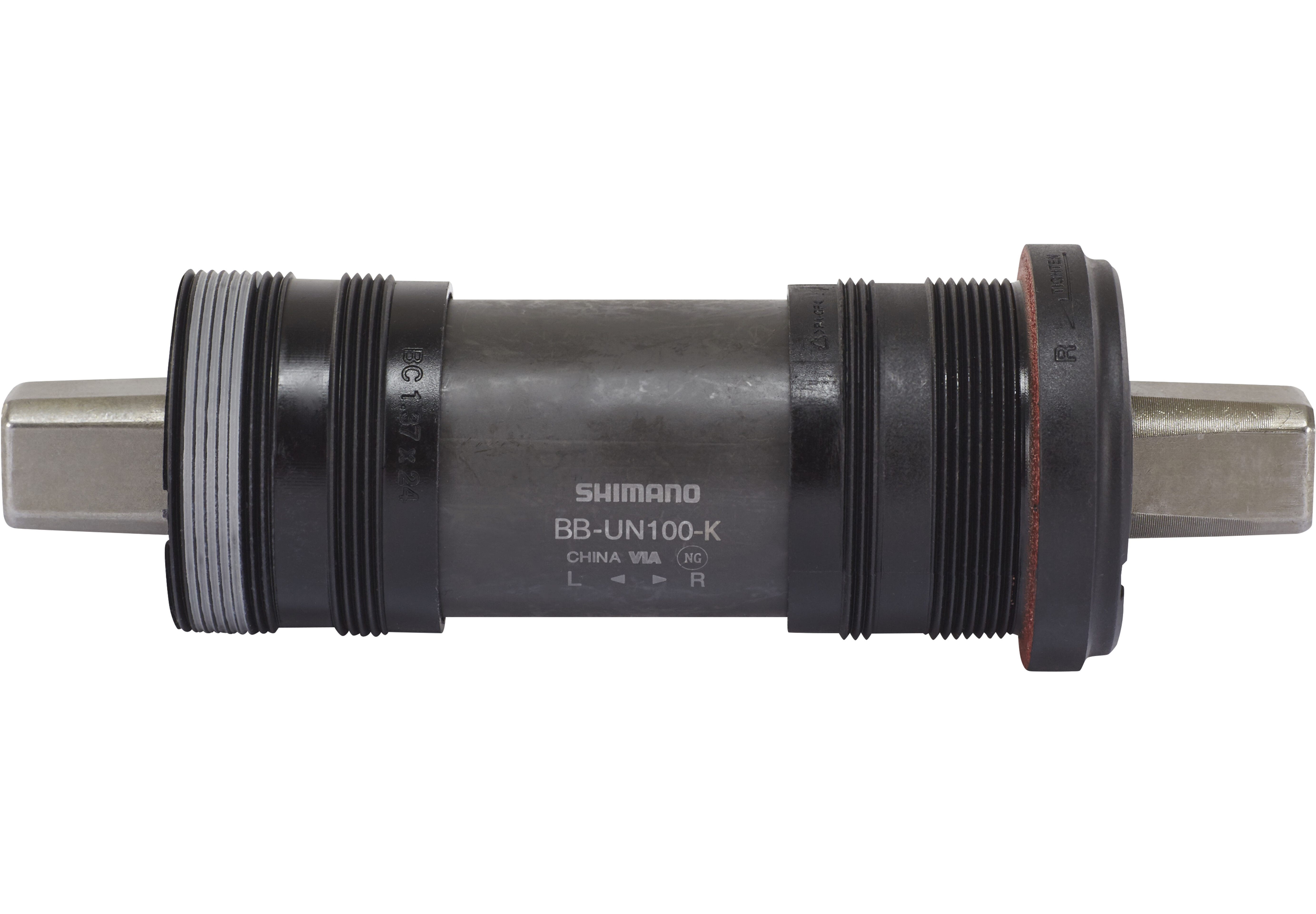 Shimano BB-UN100 Axe de pédalier tige carrée BSA LL123 68 mm pour carter de  chaîne